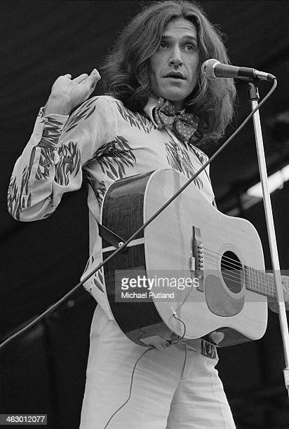 Singersongwriter Ray Davies performing with The Kinks at the White City Festival White City Stadium London 15th July 1973 Davies announced his...