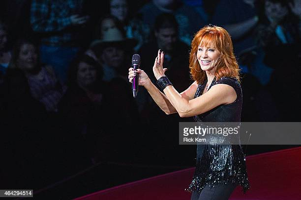 Singersongwriter Reba McEntire performs in concert as part of the San Antonio Stock Show Rodeo at the ATT Center on February 23 2015 in San Antonio...