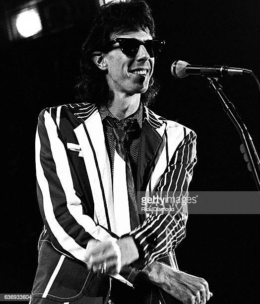 Singer/Songwriter Ric Ocasek of The Cars performs at The Omni Coliseum in Atlanta Georgia October 16, 1980.