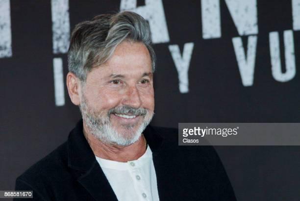 Singersongwriter Ricardo Montaner smiles during the press conference to present his new album 'Ida y Vuelta' on October 27 in Mexico City Mexico...