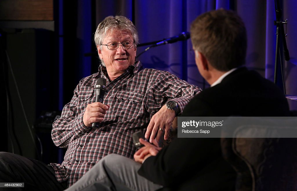 Singer/songwriter Richie Furay speaks with Executive Director of the GRAMMY Museum Bob Santelli at An Evening With Richie Furay at The GRAMMY Museum on February 25, 2015 in Los Angeles, California.