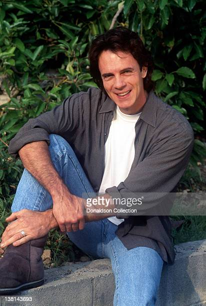 Singersongwriter Rick Springfield poses during a portrait session at his home in circa1990 in Los Angeles California