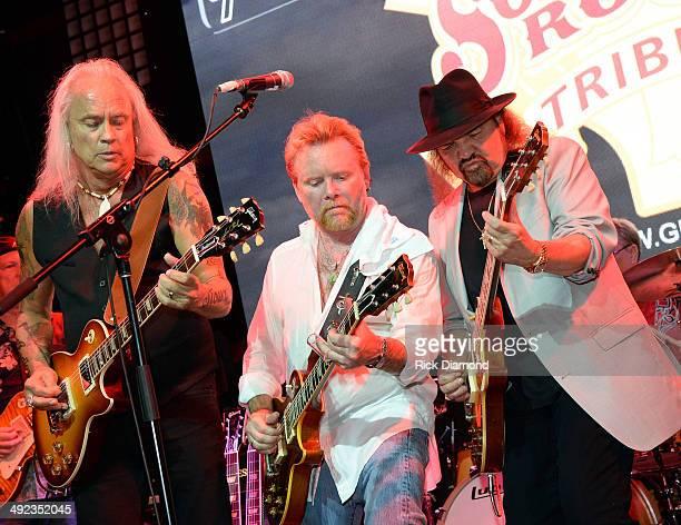 Singer/Songwriter Rickey Medlocke of Lynyrd Skynyrd Singer/Songwriter Lee Roy Parnell and Recording Artist Gary Rossington of Lynyrd Skynyrd perform...
