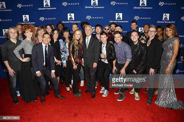Singer-songwriter Riley Bria, Vice President of The GRAMMY Foundation & MusiCares Scott Goldman, Violinist Lindsey Stirling, : Chair of the Board...