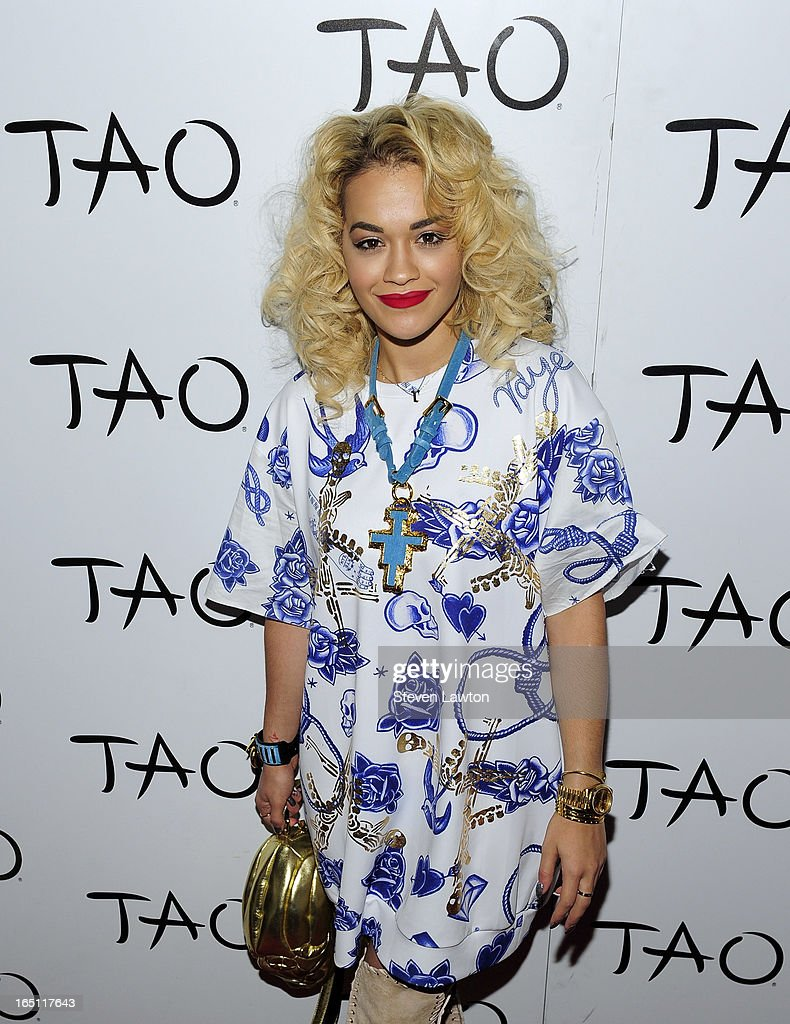 Singer/songwriter Rita Ora arrives at the Tao Nightclub at The Venetian Las Vegas on March 30, 2013 in Las Vegas, Nevada.