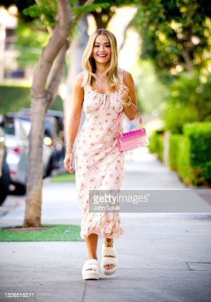 Singer-songwriter Rita Ora is seen on July 01, 2021 in West Hollywood, California.