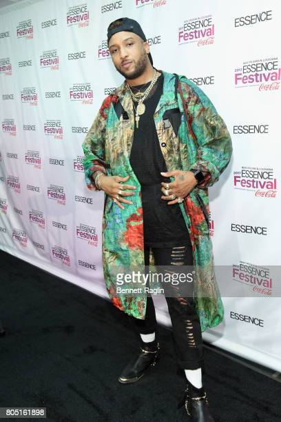 Singersongwriter Ro James poses in the press room at the 2017 ESSENCE Festival Presented By Coca Cola at the MercedesBenz Superdome on June 30 2017...
