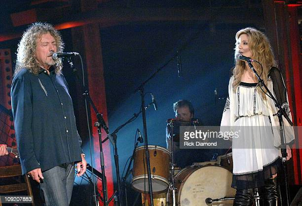 Singer/Songwriter Robert Plant and Singer/Songwriter Alison Krauss at the taping of there CMT CrossroadsROBERT PLANT AND ALISON KRAUSS premieres...