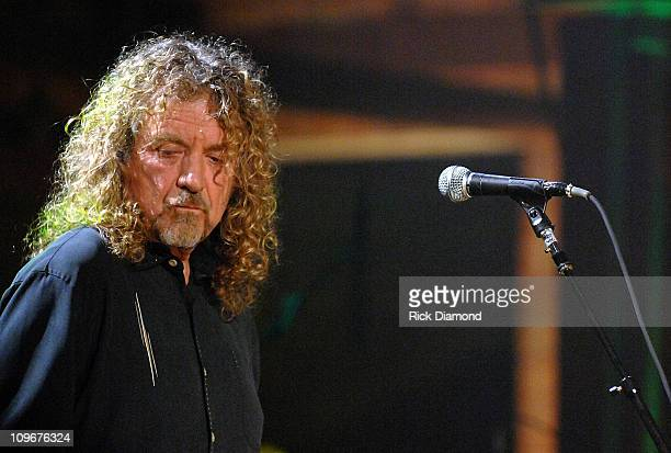 Singer/Songwriter Robert Plant at the taping of there CMT Crossroads ROBERT PLANT AND ALISON KRAUSS premieres Monday February 11 at 800 pm 900 pm...