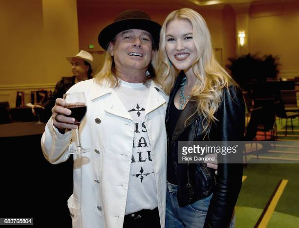 Singer/Songwriter Robin Zander of Cheap Trick and Singer/Songwriter Ashley Campbell backstage during Music Biz 2017 Industry Jam 2 at the Renaissance...