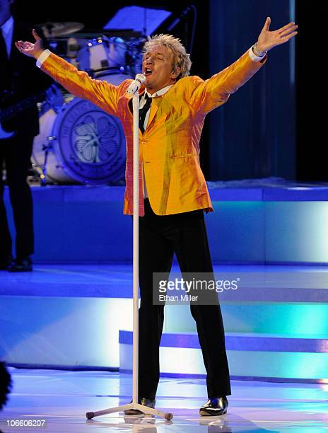 Singer/songwriter Rod Stewart performs at The Colosseum at Caesars Palace November 6 2010 in Las Vegas Nevada Stewart who released the album Fly Me...