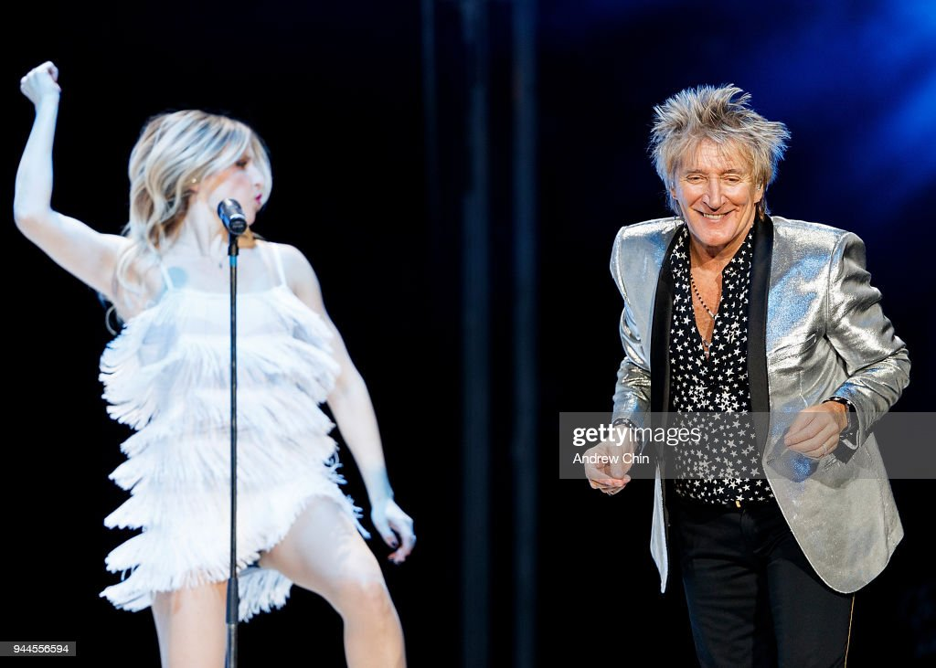 Singer-songwriter Rod Stewart performs on stage at Rogers Arena on April 10, 2018 in Vancouver, Canada.