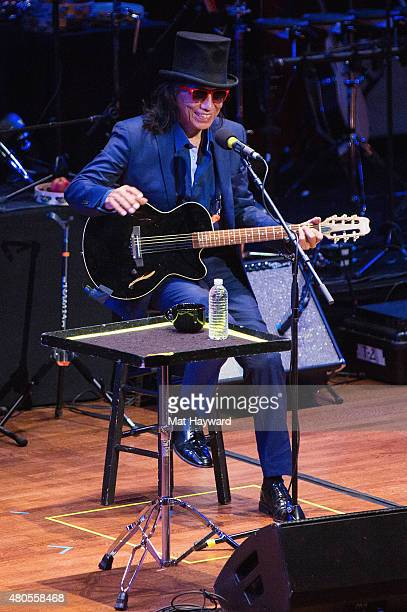 Singersongwriter Rodriguez performs on stage at Benaroya Hall on July 12 2015 in Seattle Washington