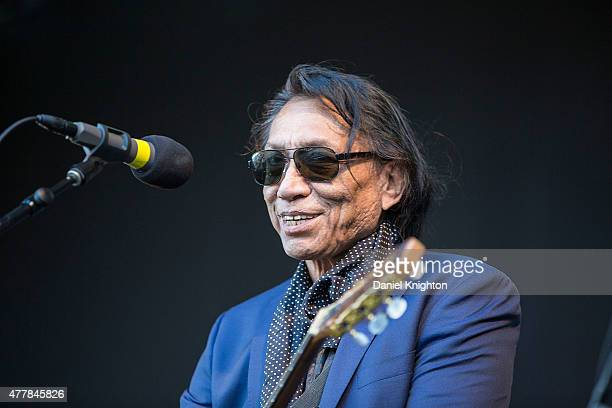 Singer/songwriter Rodriguez performs on stage in support of Brian Wilson and Al Jardine at Humphrey's Concerts By The Bay on June 19 2015 in San...