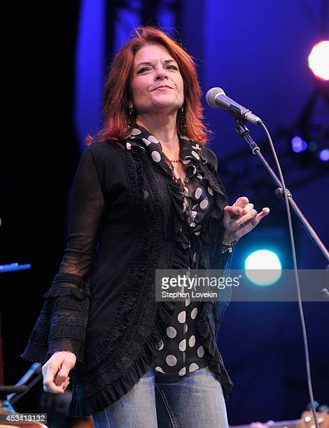 Singersongwriter Roseanne Cash performs during Americanafest NYC 2014 at Lincoln Center for the Performing Arts on August 9 2014 in New York City