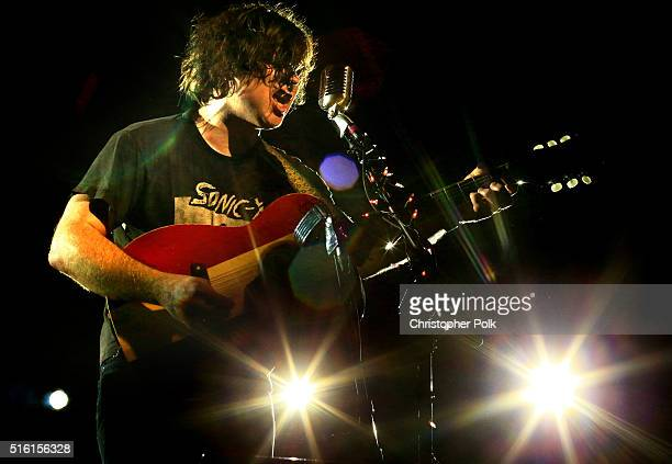 Singersongwriter Ryan Adams performs at Music Is Universal presented by Marriott Rewards and Universal Music Group during SXSW at the JW Marriott...