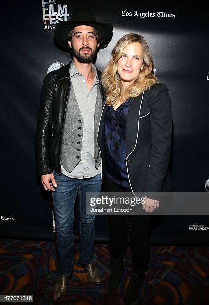 Singersongwriter Ryan Bingham and director Anna Axster attend the A Country Called Home screening during the 2015 Los Angeles Film Festival at Regal...
