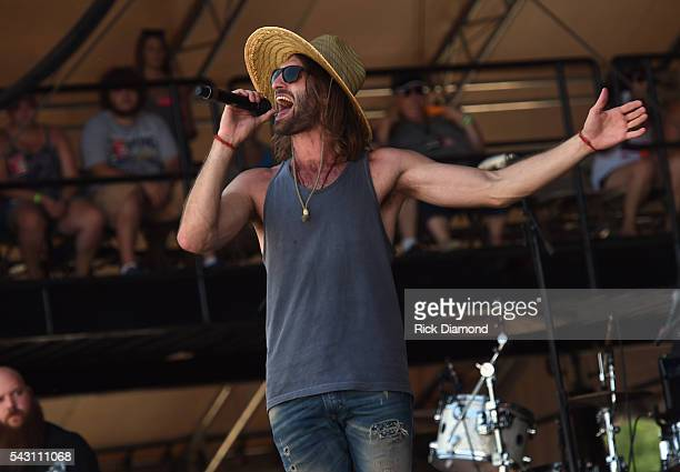 Singer/Songwriter Ryan Hurd performs at Kicker Country Stampede Manhattan Kansas Day 3 on June 25 2016 in Manhattan Kansas