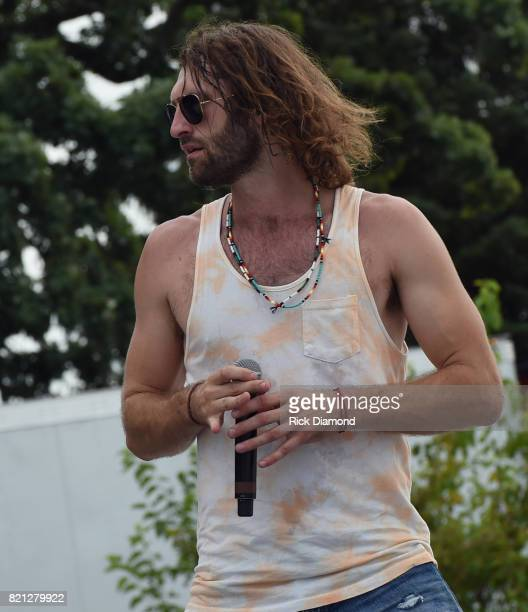 Singer/Songwriter Ryan Hurd performs during Country Thunder In Twin Lakes Wisconsin Day 3 on July 22 2017 in Twin Lakes Wisconsin