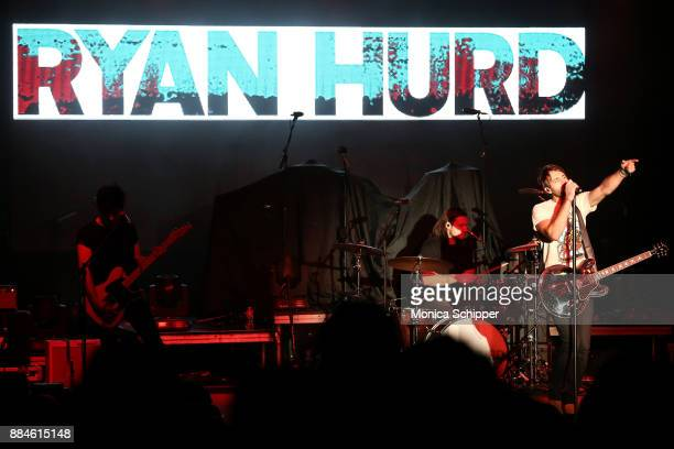 Singersongwriter Ryan Hurd performs on stage opening for Dustin Lynch during The Ride or Die Tour at PlayStation Theater on December 2 2017 in New...