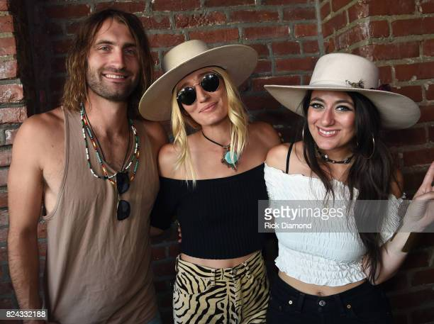 Singer/Songwriter Ryan Hurd with Singers/Songwriters Ruby Stewart and Alyssa Bonagura The Sisterhood attend Manchester City Host PreGame Party in...