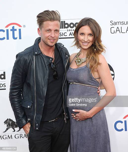 Singer/songwriter Ryan Tedder of OneRepublic and his wife Genevieve Tedder arrive at the 2014 Billboard Music Awards at the MGM Grand Garden Arena on...