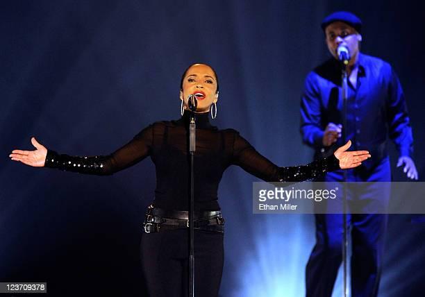 Singer/songwriter Sade performs at the MGM Grand Garden Arena September 3 2011 in Las Vegas Nevada