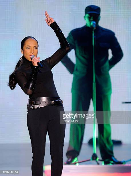 Singer/songwriter Sade performs at the MGM Grand Garden Arena on September 3 2011 in Las Vegas Nevada