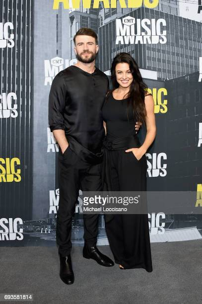 Singersongwriter Sam Hunt and Hannah Lee Fowler attend the 2017 CMT Music awards at the Music City Center on June 7 2017 in Nashville Tennessee
