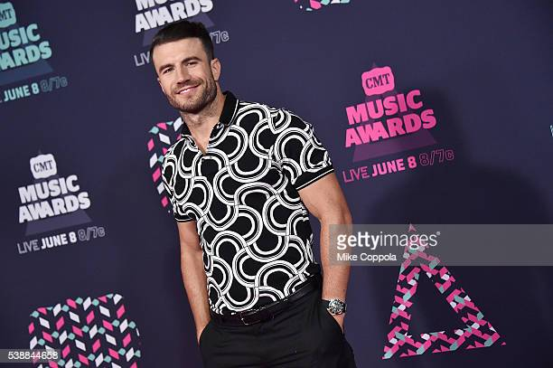 Singersongwriter Sam Hunt attends the 2016 CMT Music awards at the Bridgestone Arena on June 8 2016 in Nashville Tennessee