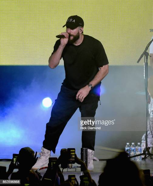 Singer/Songwriter Sam Hunt performs during Sam Hunt 15 In A 30 Tour Featuring Maren Morris Chris Janson and Ryan Folleseat Ascend Amphitheater on...