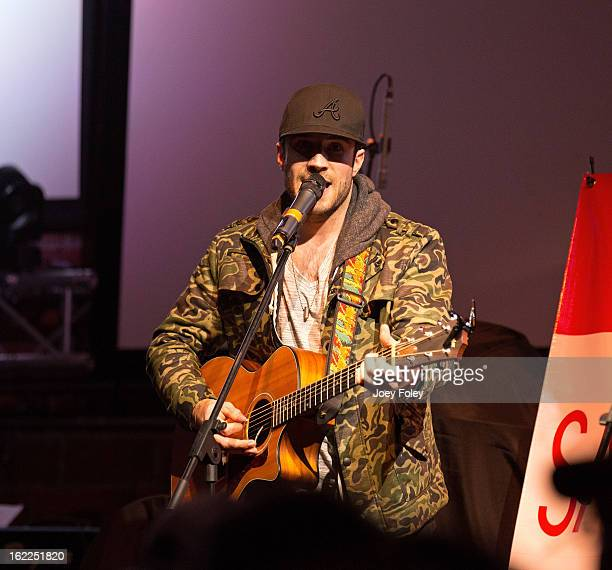 SingerSongwriter Sam Hunt performs in front of a soldout crowd at Brick Street Bar on February 20 2013 in Oxford Ohio