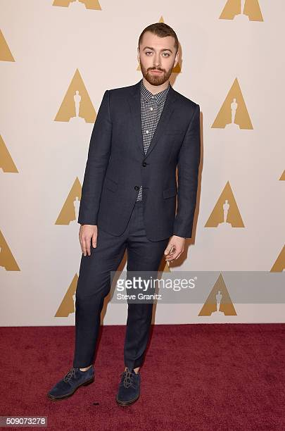Singer/songwriter Sam Smith attends the 88th Annual Academy Awards nominee luncheon on February 8 2016 in Beverly Hills California