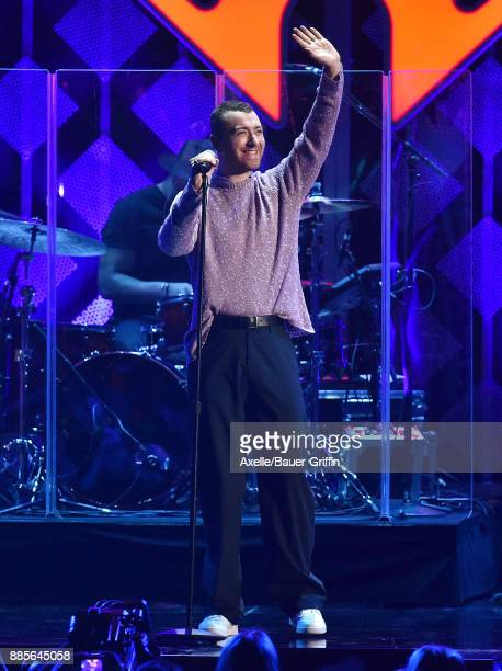 Singersongwriter Sam Smith performs at 1027 KIIS FM's Jingle Ball 2017 at The Forum on December 1 2017 in Inglewood California