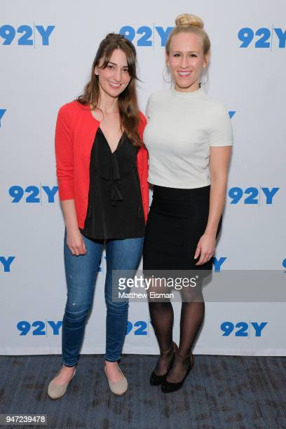 Singersongwriter Sara Bareilles and Stephanie Torns attend 92nd Street Y Presents The Women Of 'Waitress The Musical' at 92nd Street Y on April 16...