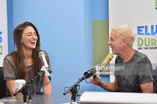 Singer/songwriter Sara Bareilles is interviewed by Radio personality Elvis Duran during The Elvis Duran Z100 Morning Show at Z100 Studio on August 24...