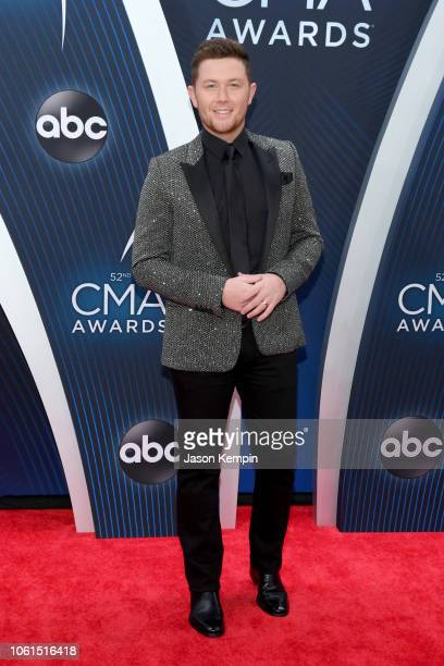 Singersongwriter Scotty McCreery attends the 52nd annual CMA Awards at the Bridgestone Arena on November 14 2018 in Nashville Tennessee