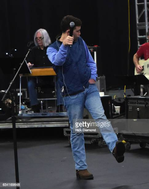 Singer/Songwriter Scotty McCreery rehearsais for 1 Night 1 Place 1 Time A Heroes Friends Tribute to Randy Travis on February 7 2017 at SoundCheck in...