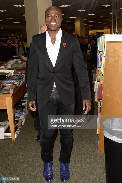 Singer/songwriter Seal arrives to sign copies of his album 7 at Barnes Noble at The Grove on November 18 2015 in Los Angeles California