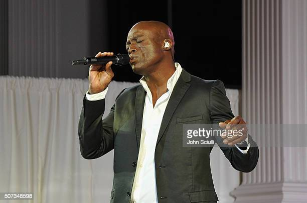 Singersongwriter Seal performs during the 2016 G'Day Los Angeles Gala at Vibiana on January 28 2016 in Los Angeles California