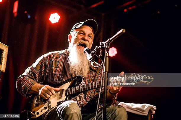 Singersongwriter Seasick Steve performs live on stage during a concert at Postbahnhof on October 24 2016 in Berlin Germany