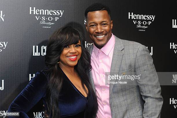 Singer/Songwriter Shanice and Flex Alexander attend the Hennessy Toasts Achievements In Music on February 7 2015 in Los Angeles California