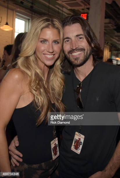 Singer/Songwriter Shannon Brown and Husband Director Shaun Silva attend Acme Feed Seed Grand Opening Party on September 10 2014 in Nashville Tennessee