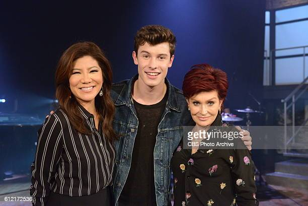 Singersongwriter Shawn Mendes discusses his new album 'Illuminate' on 'The Talk' Friday September 30 2016 on the CBS Television Network From left...