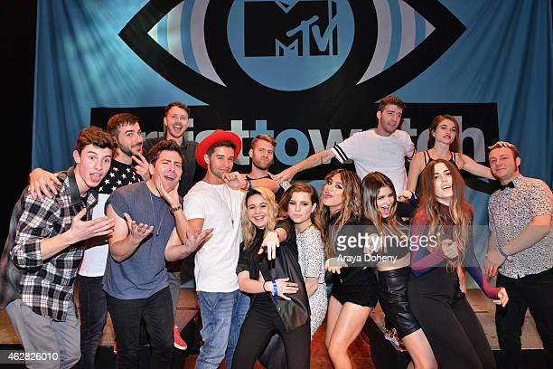 Singer/songwriter Shawn Mendes guest rappers Hoodie Allen and Jake Miuller singer Beatrice Miller musician Sydney Sierota of Echosmith guest singer...