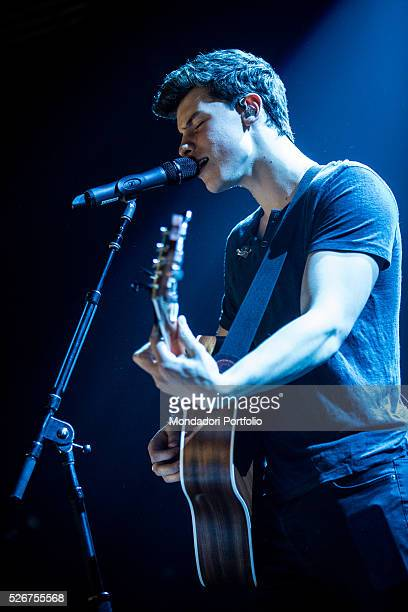 Singersongwriter Shawn Mendes in concert at Fabrique Milan 27th April 2016