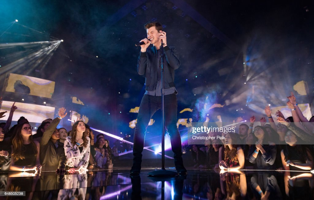 Singer-songwriter Shawn Mendes peforms onstage at the 2017 iHeartRadio Music Awards which broadcast live on Turner's TBS, TNT, and truTV at The Forum on March 5, 2017 in Inglewood, California.