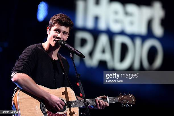 Singer/songwriter Shawn Mendes performs onstage during 106.1 KISS FM's Jingle Ball 2015 presented by Capital One at American Airlines Center on...