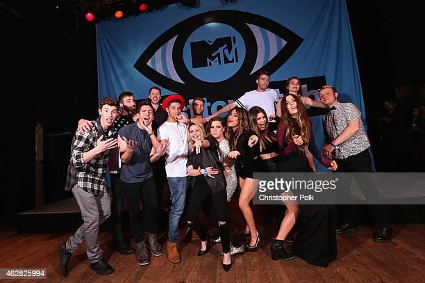 Singer/songwriter Shawn Mendes rapper Hoodie Allen singer Beatrice Miller singer Ryn Weaver and guest musician Etienne Bowler of MisterWives rapper...