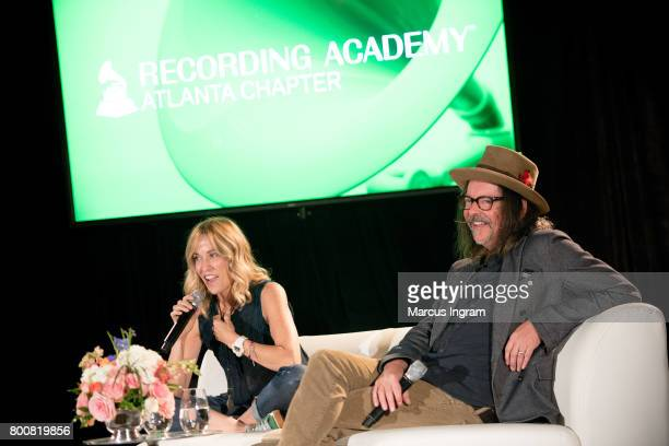 SingerSongwriter Sheryl Crow and Songwriter Jeff Trott featured at GRAMMY Up Close Personal at W Hotel Buckhead on June 25 2017 in Atlanta Georgia